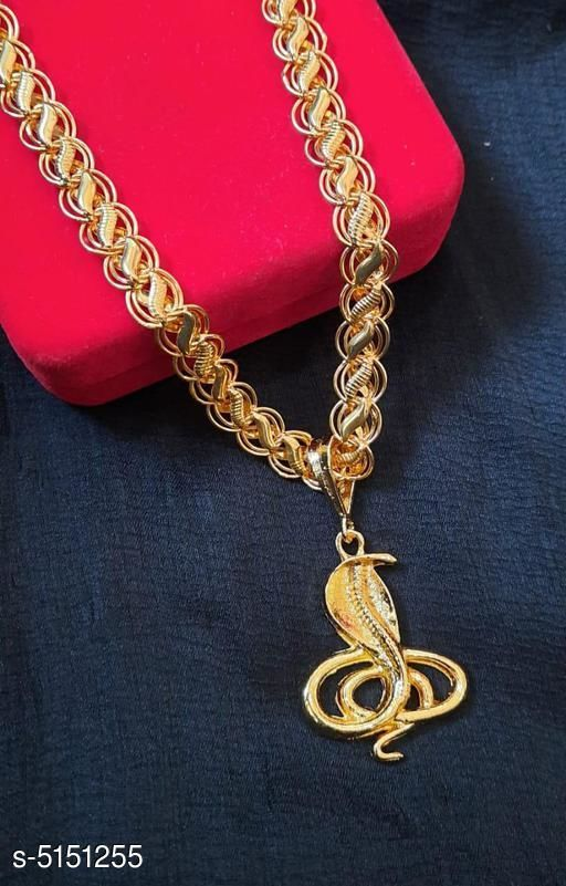 New Stylish Brass & Alloy Men's Chain With Pendant