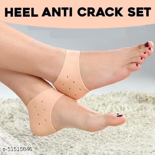 Silicone Heel Anti-Crack Set Of 1 Pair Socks
