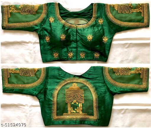 Beautiful Fentam Silk embroidery work Readymade Blouse collection