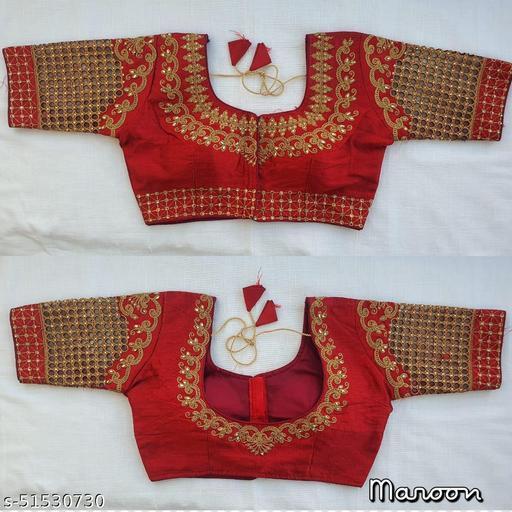 unique designer fentam silk embroidery work readymade blouse collection