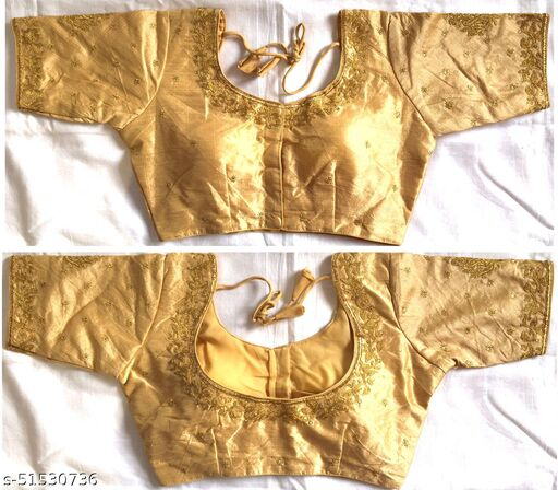 Designer Fentam Silk Embroidery Work Readymade Blouse For Women
