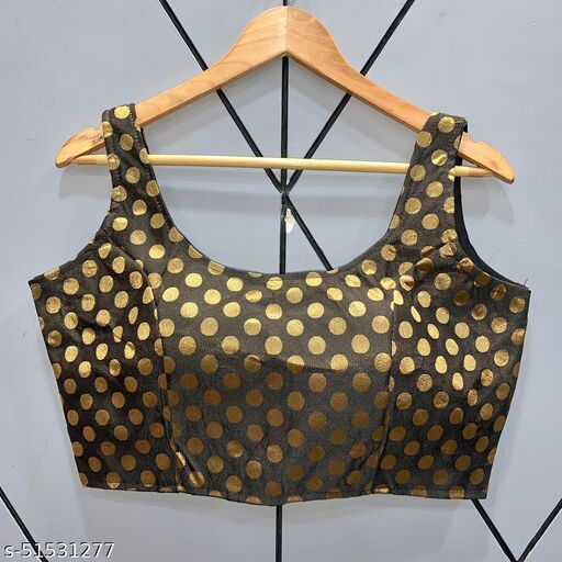 festive wear fentam silk jacqaurd readymade blouse for women