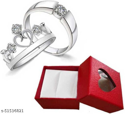 Steel Silver Plated Ring Set