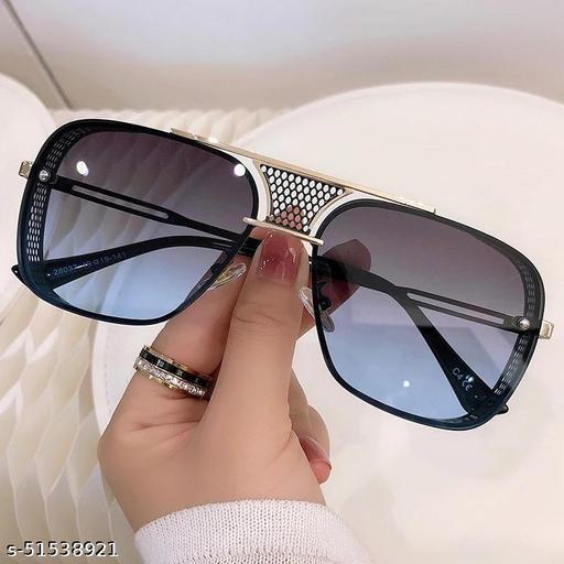 UV Protection, Mirrored, Riding Glasses Retro Square Sunglasses