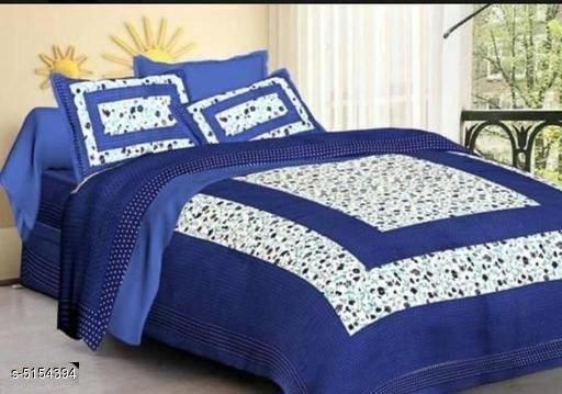 Ria Stylish Cotton 100 X 90 Double Bedsheet