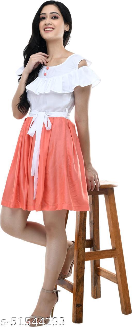 LAVANNYA White and Peach dress