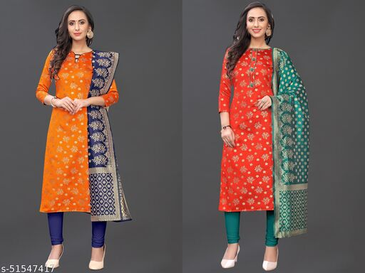 Being banarasi Woven Jacqard un-stiched dress material