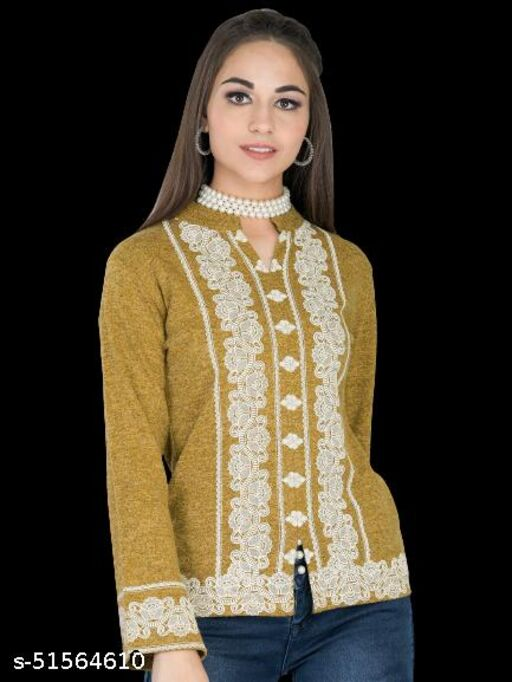 Women Embroidered Winter Top