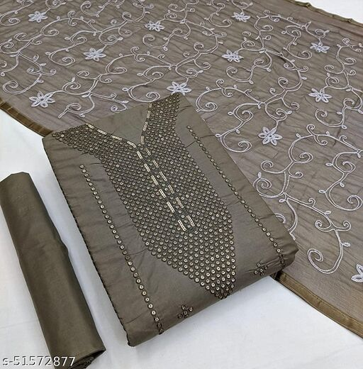 Women and girl fancy dress material salwar suit set