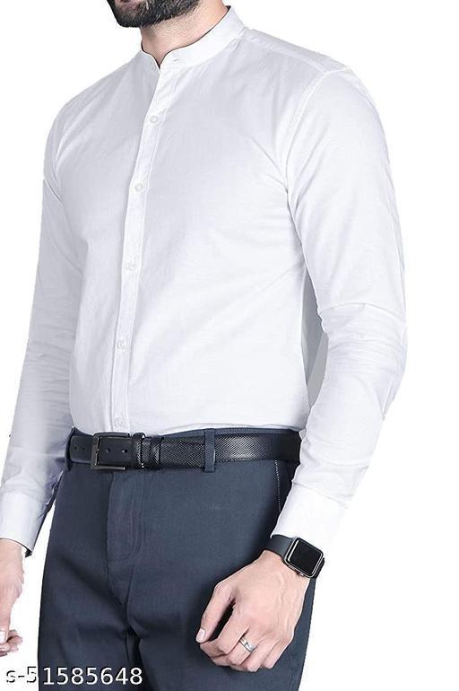 Men's Party Wear Satan Round Colar Formal Full Sleeve Shirt