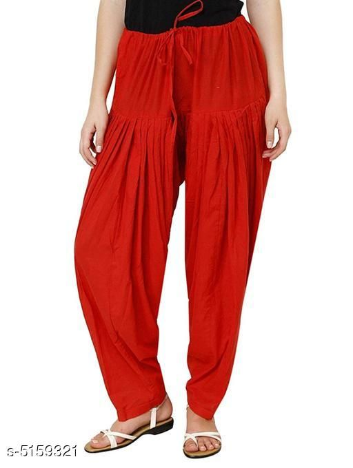 Aadab Elegant Cotton Women's Semi Patiala Salwar