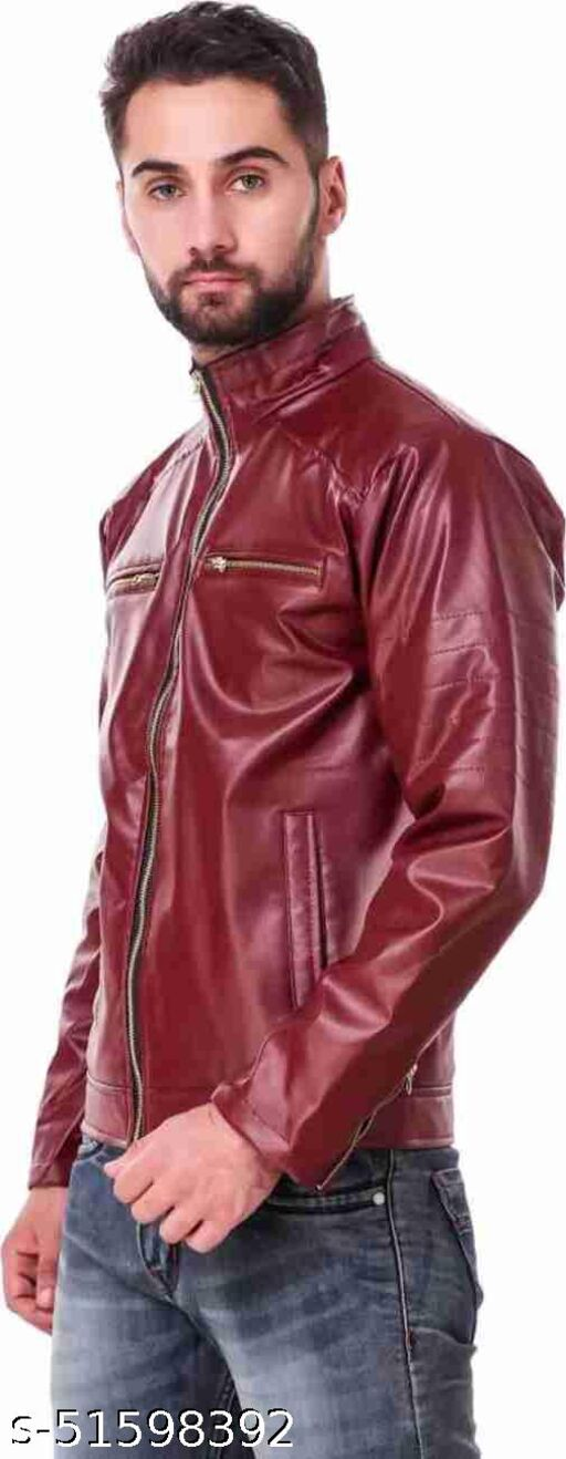 Lather Red JacketSks t4