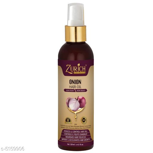 Herbal Products Zurich Red Onion Hair Oil For Hair Growth, Dandruff Control & Hair Fall Control with Pure Tea Tree, Bhringraj, Curry leaf, Jatamansi, Almond, Vitamin E & Many More Natural Herbs - Non Sticky & Non Greasy – No Hexane & Silicon - 120ml  *Product Name* Zurich Red Onion Hair Oil For Hair Growth, Dandruff Control & Hair Fall Control with Pure Tea Tree, Bhringraj, Curry leaf, Jatamansi, Almond, Vitamin E & Many More Natural Herbs - Non Sticky & Non Greasy – No Hexane & Silicon - 120ml  *Multipack* 1  *Product Type* Hair Oil  *Capacity* 120 ml  *Sizes Available* Free Size *    Catalog Name:  Advanced Natural Hair Oil CatalogID_762349 C50-SC1297 Code: 912-5159906-