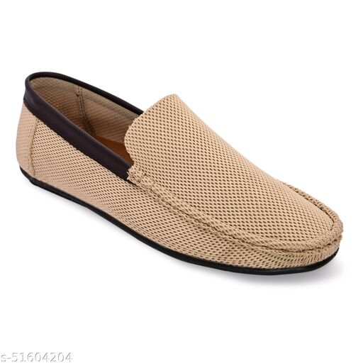 Lorenzo Beige Slip-On  Shoes For Men || LRSR002