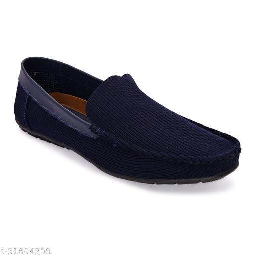 Lorenzo Navy Slip-On  Shoes For Men || LRSR003