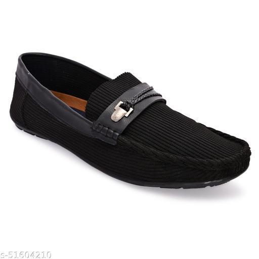 Lorenzo Black Slip-On  Shoes For Men    LRSR003