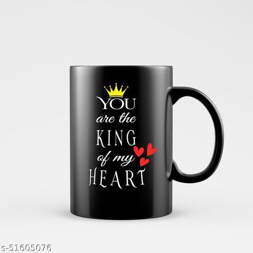Birthday Gift You Are King for Boy Men husband boyfriend on Birthday Valentines Day and Anniversary Ceramic Coffee Mug (330ML Black)