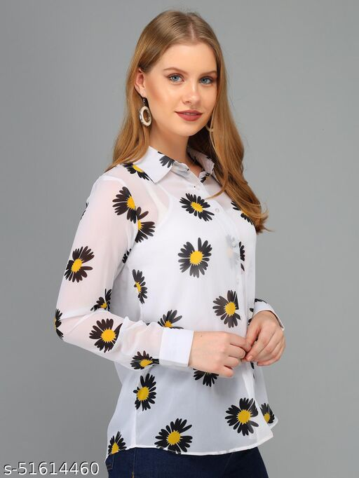 Real Vibes Black Floral Shirt