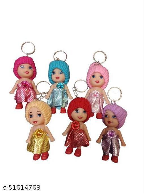 Fanminita Cute Mini Doll Keychain Pack Of 6 (Multidesign)