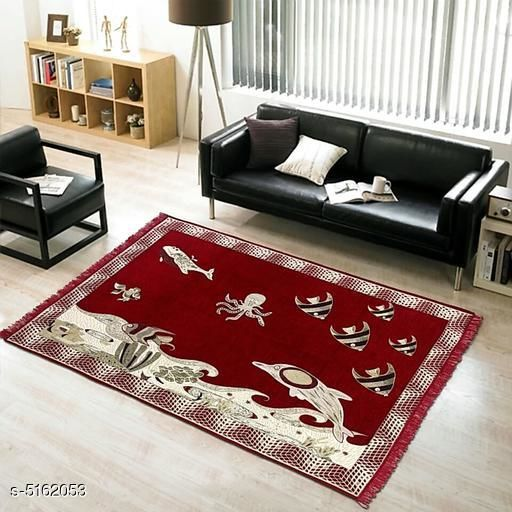 Medium Weight Carpets Trendy Chenille Carpets  *Material* Chenille  *Multipack* 1  *Sizes*   *Free Size (Length Size* 7 ft , Width Size  *Work* Printed  *Sizes Available* Free Size *    Catalog Name: Trendy Chenille Carpets CatalogID_762746 C55-SC1723 Code: 455-5162053-
