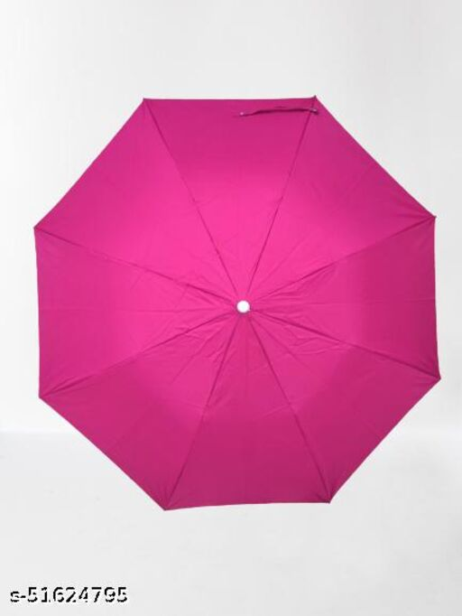 Pink 2-Fold Umbrella for Men and Women   Auto Open Rain UV and Sun Rays Protection Umbrellas