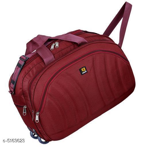 Trendy Men's Red Polyester Duffel Bags