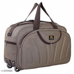 Trendy Men's Beige Polyester Duffel Bags