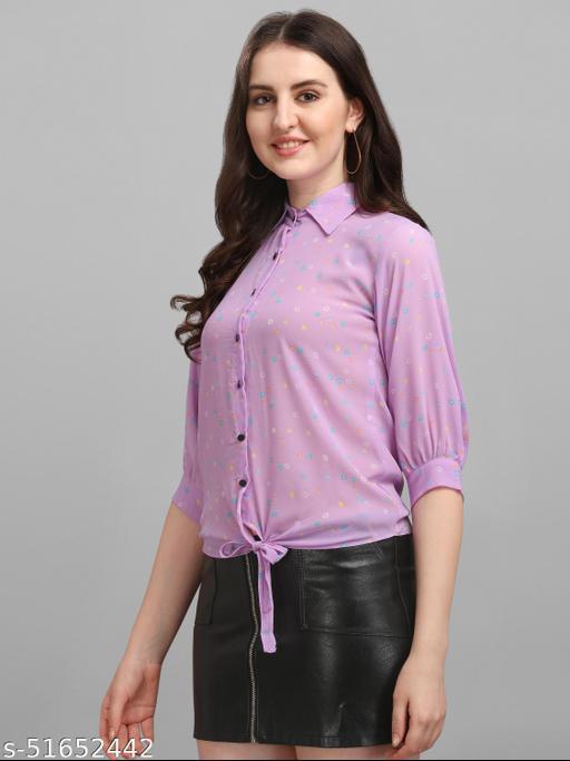 AKSHAR FABRIC CLASSY TRENDY FANCY ELEGANCE LOOK SHIRT TOP FOR WOMEN