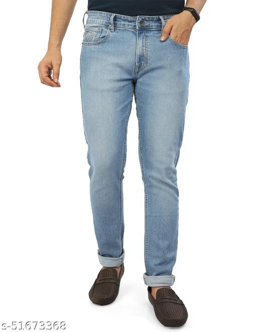Rocking Swamy - Slim Fit Stretchable Denim Jeans for Men - LT. BLUE
