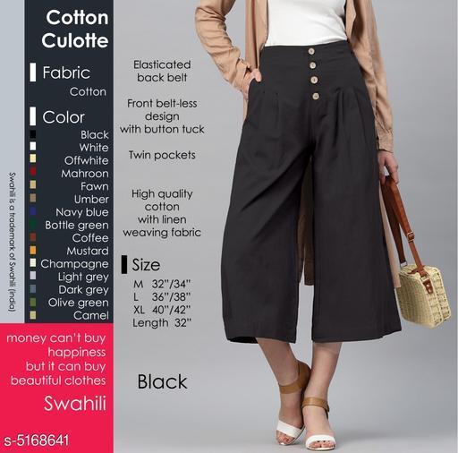 Stylish Trendy Cotton Women's Palazzo