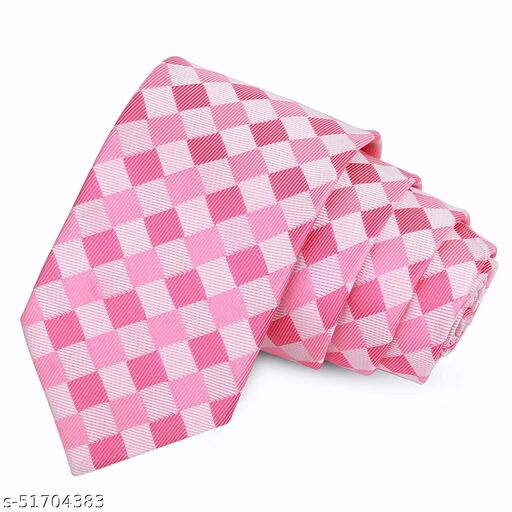 anjatan Pink and Lavender Touch Diamond Patterned Microfiber Necktie For Men. (Width-3 Inch)…
