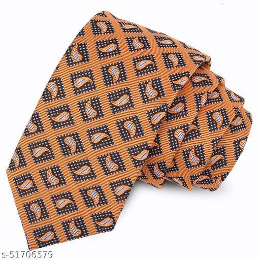 Panjatan Mustard Coloured Royal Leaf Touch Design Microfiber Necktie For Men. (Width-3 Inch)…
