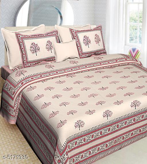 Stylish Cotton 108 x 90 Double Bedsheets