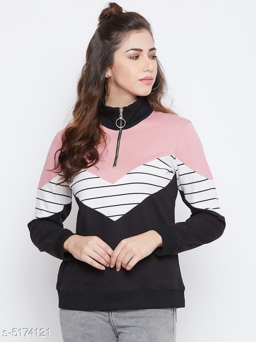 Attractive Cotton Blend Women's Sweatshirt