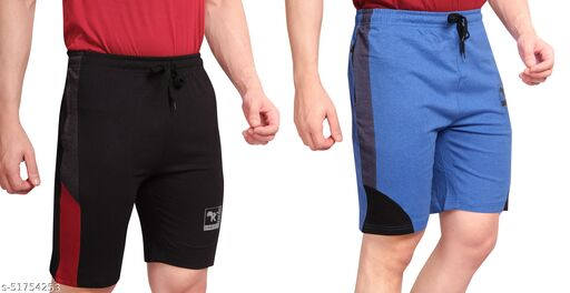KEESOR Men's Shorts(PACK OF 2) l Men's Bermuda Shorts l Men's Cotton Shorts
