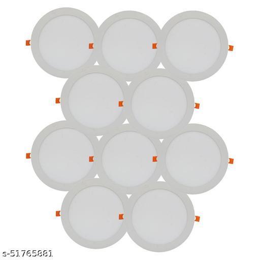 D'Mak 18W LED Round False Ceiling Panel Light for POP Color-White (Pack of-10,White)