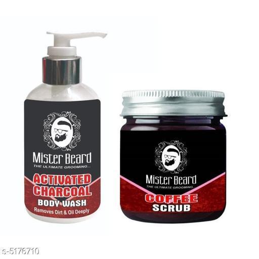 Mister Beard Charcoal Body Wash 200ml WITH Coffee Scrub 100gm