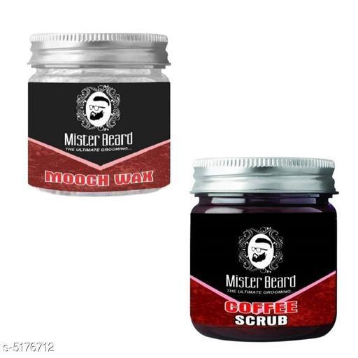 Mister Beard Mooch Wax 100gm WITH Coffee Scrub 100gm