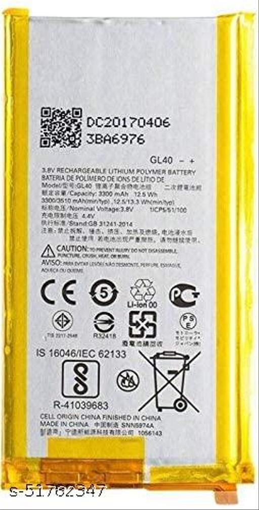 MiniKart Compatible Mobile Battery for Motorola Moto Z Play XT1635 GL40 3510 mAh.