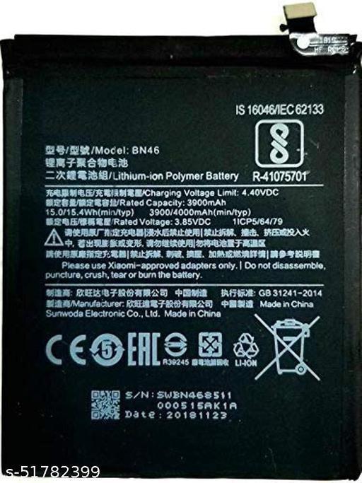 MiniKart Compatible Mobile Battery for Xiaomi Redmi 7,Redmi Y3, Redmi 6, Redmi Note8 BN46 4000 mAh...