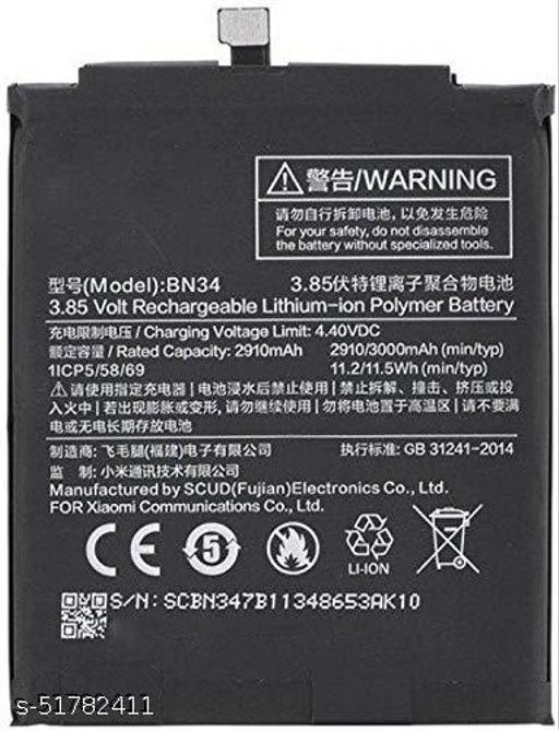 MiniKart Compatible Mobile Battery for Xiaomi Redmi mi 5A BN34 3000 mAh