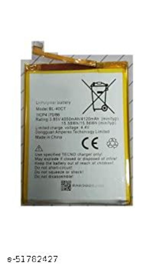 MiniKart Compatible Mobile Battery for Tecno L8 BL-30CT 5050mAh
