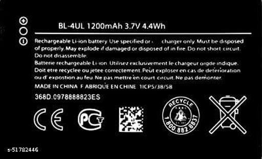 MiniKart Compatible Mobile Battery for Nokia Lumai Asha 3310, 225, 220, 230 BL-4UL 1200 mAh.
