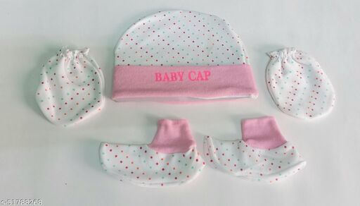 for little baby- baby cap, mitten & booties set.