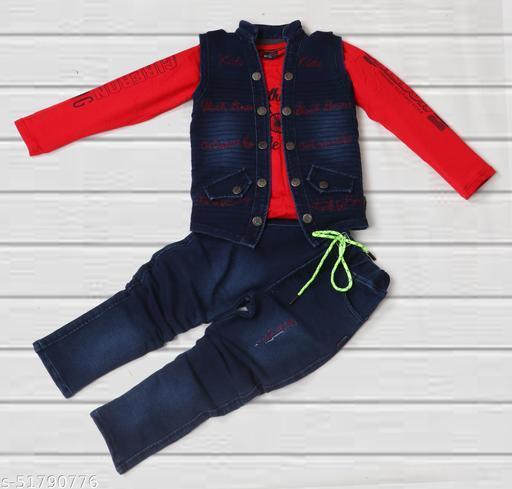 Flawsome Fancy Boys Top & Bottom Clothing Set