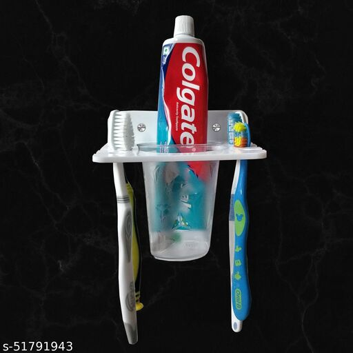 Acrylic Tooth Brush Holder Tumbler for Bathroom for Home (5 Inch)Toothbrush Holders