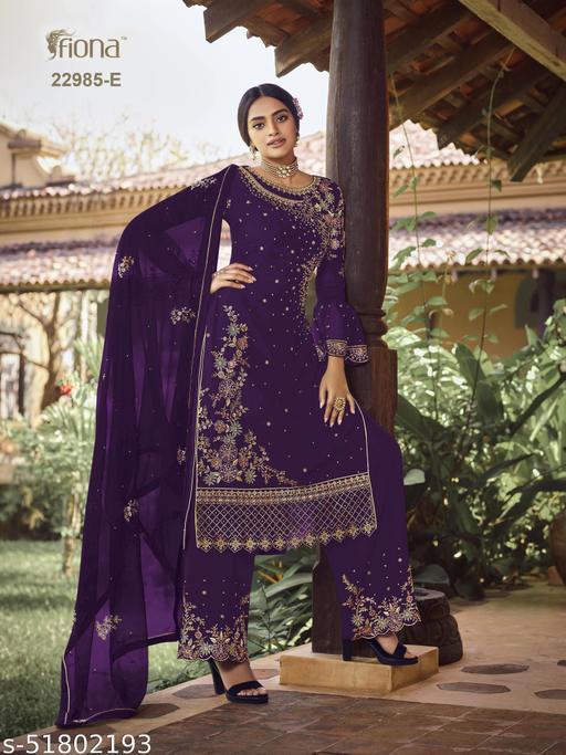 Trendy Graceful Semi-Stitched Suits