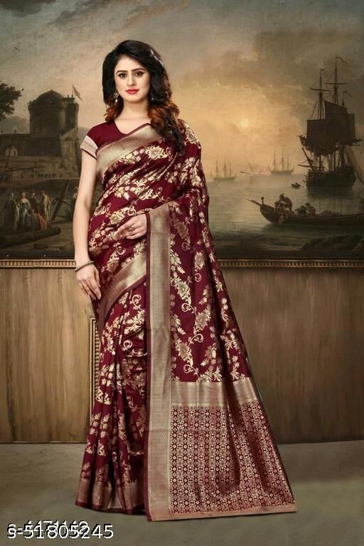 Deasigner Jacquard Festival Wear Saree For Womens.