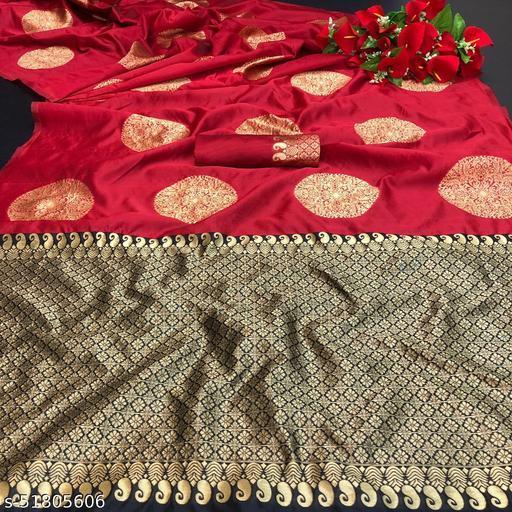 Solbiza Fashion Women's Fancy Lichi Fabric With Ton to Ton Color Self Jacqard Weaving Blouse Peach Red color