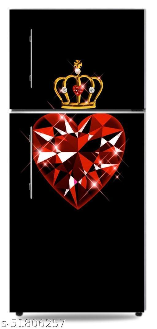 HD-queen-of-hearts-crown-girly-gold-golden-jewel-pretty-ruby fridge doo skin Sticker